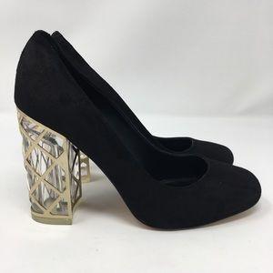 Karl Lagerfeld Saffron Clear Block Heels